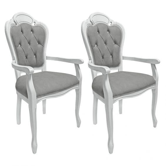 amalia lot de 2 fauteuils avec dossiers capitonnes