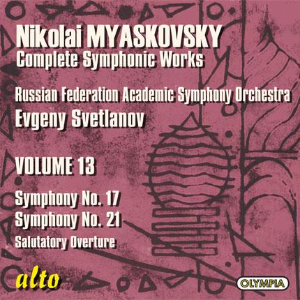 Nikolai Myaskovsky: Complete Symphonic Works, Volume 13