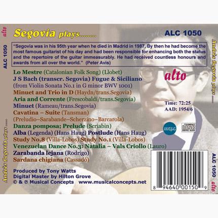 Segovia Plays Bach, Haydn and more