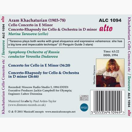 ALC 1094 - Khachaturian: Cello Concerto & Concerto-Rhapsody