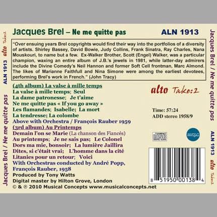 Jacques Brel: Ne Me Quitte Pas (Two classic albums)