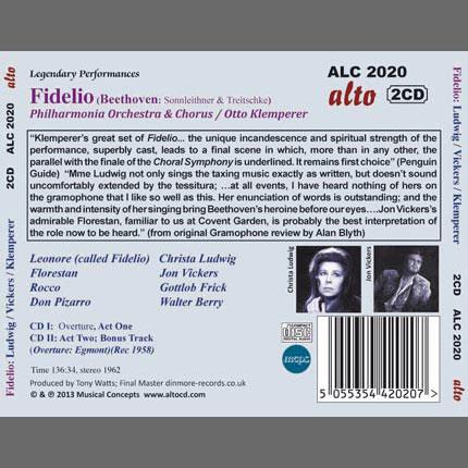 Beethoven : FIDELIO (complete opera)