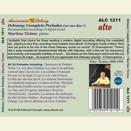 Debussy : Complete Preludes (on 1 CD)