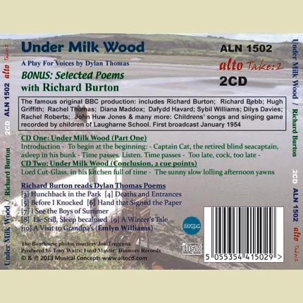 Richard Burton reads Under Milk Wood (plus bonus poetry)