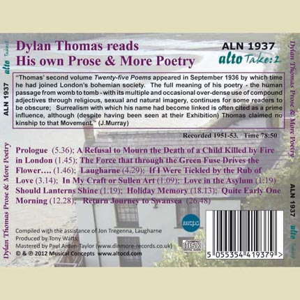 Dylan Thomas reads his own Prose & More Poetry