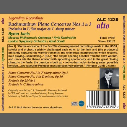 Sergei Rachmaninov: Piano Concertos 1 & 3 Preludes in E flat major Op23/6; in C sharp minor Op3/2