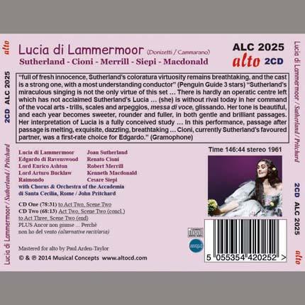Lucia di Lammermoor (donizetti) complete opera