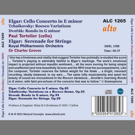 Elgar: Cello Concerto Serenade for Strings