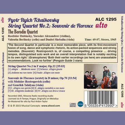Tchaikovsky: String Quartet No.2 / Souvenir de Florence (sextet)