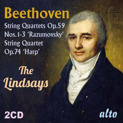 Beethoven String Quartets  Op.59 (1-3) 'Razumovsky' Op.74 'Harp'