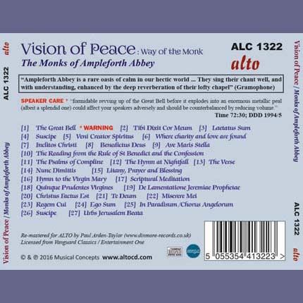 Vision of Peace / The Monks of Ampleforth Abbey