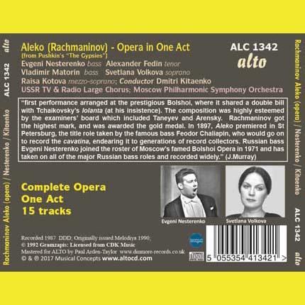 'Aleko' (complete Opera, One Act)