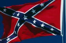 Confederate flag waving