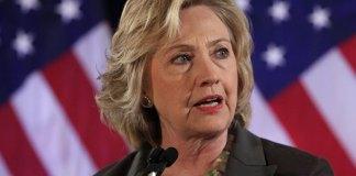 Hillary Clinton American flag