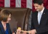 Paul Ryan receives gavel from Nancy Pelosi as House speaker