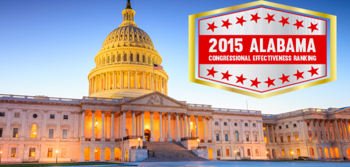 2015 Alabama Congressional Effectiveness Ranking