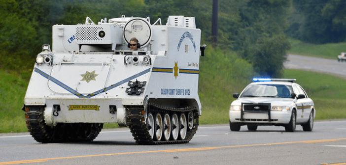 Calhoun County armored vehicle