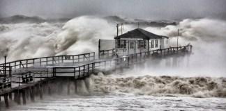 Hurricane beach pier