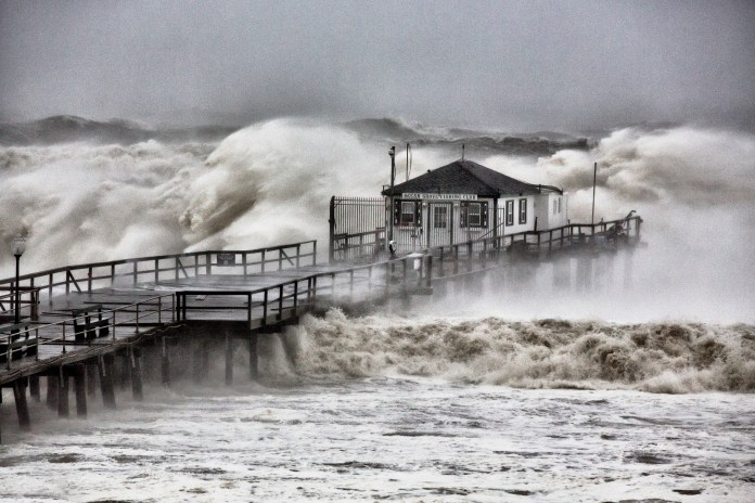 Hurricane beach pier