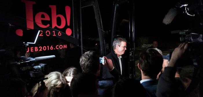Jeb Bush campaign bus