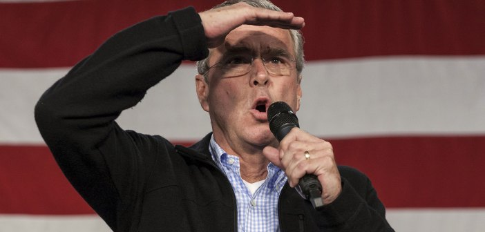 U.S. Republican presidential candidate Jeb Bush speaks at the Growth and Opportunity Party at the Iowa State Fairgrounds in Des Moines, Iowa