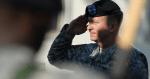 Military veterans saluting