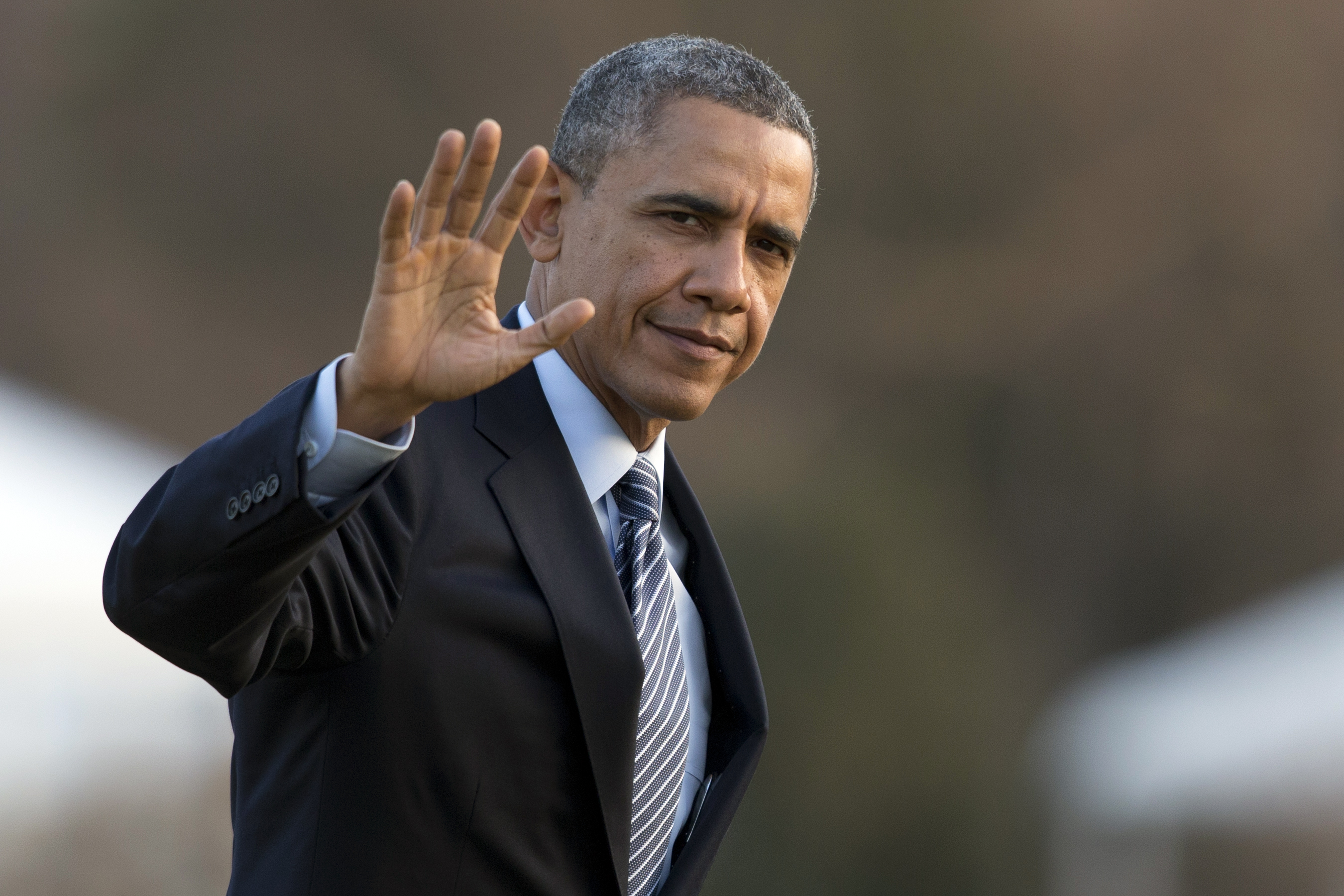 Image result for waving president obama