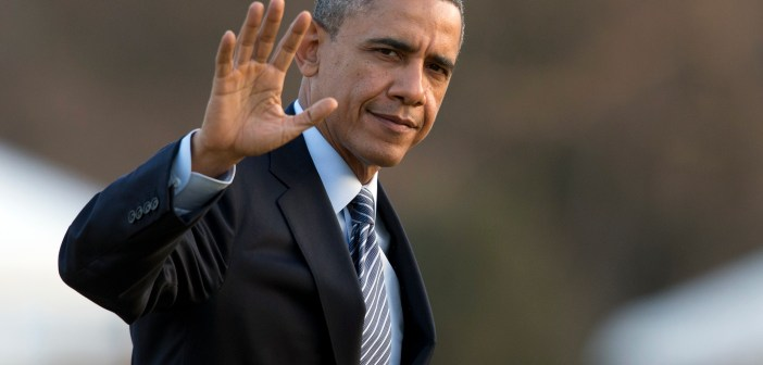 Barack Obama waving