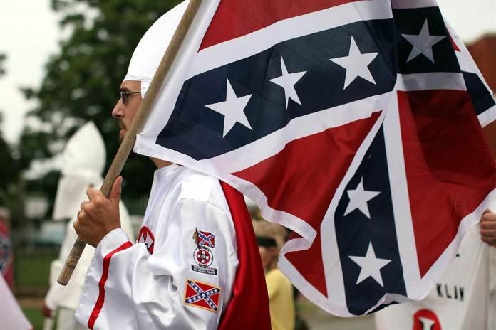 Ku Klux Klan KKK and confederate flag