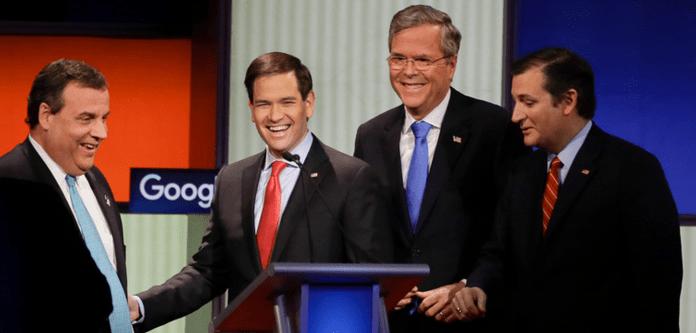 Republicans in Debate_Jeb Bush Chris Christie Marco Rubio Ted Cruz