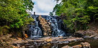 Waterfall at Chewacla State Park new Auburn Alabama
