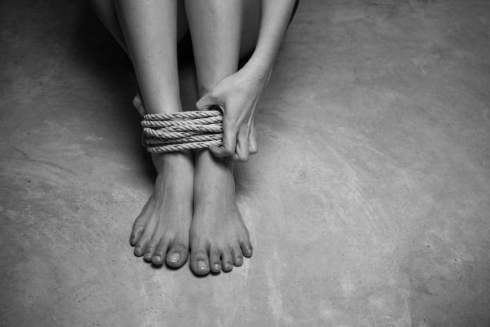tied up human trafficking