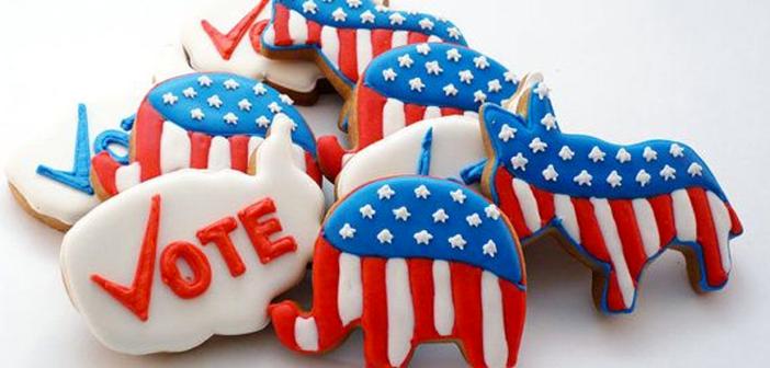 Republican Democrat watch party cookies