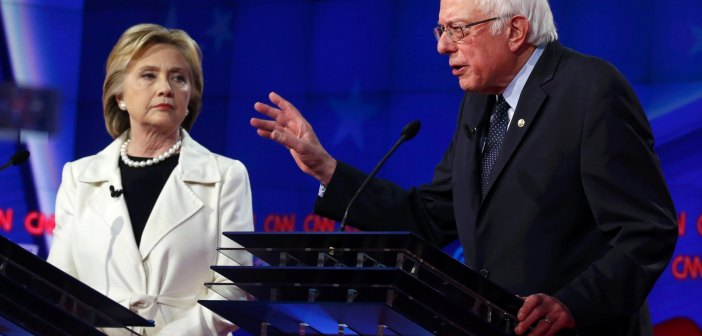 Hillary Clinton and Bernie Sanders debate