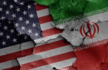 United States of America and Iran flags