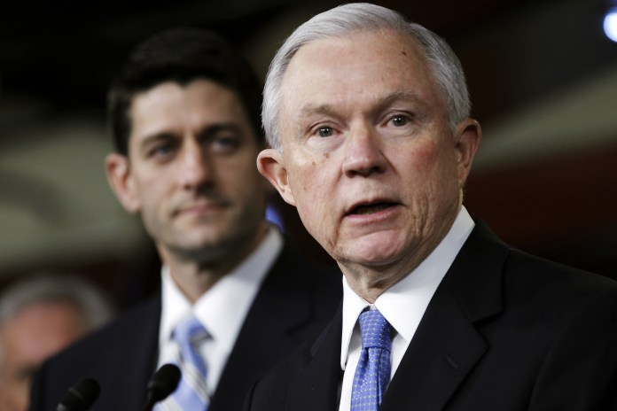 Jeff Sessions and Paul Ryan