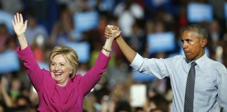 Barack Obama and Hillary Clinton_DNC 2016