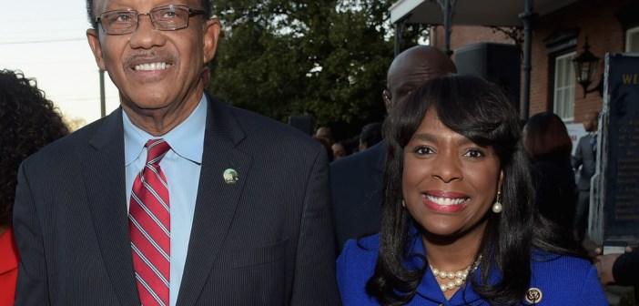 Terri Sewell and Selma Mayor George Evans