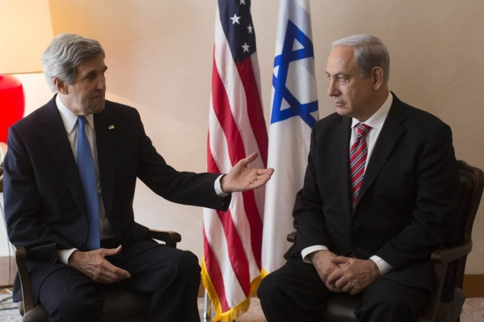 John Kerry and Netanyahu