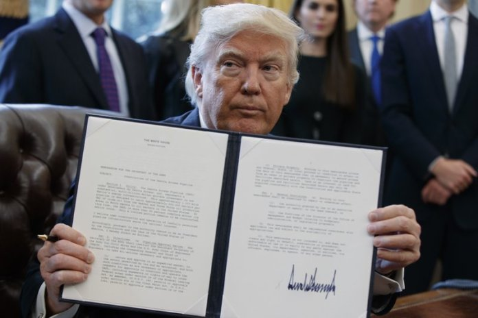 Donald Trump signed law
