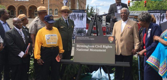 Birmingham Civil Rights Monument sign
