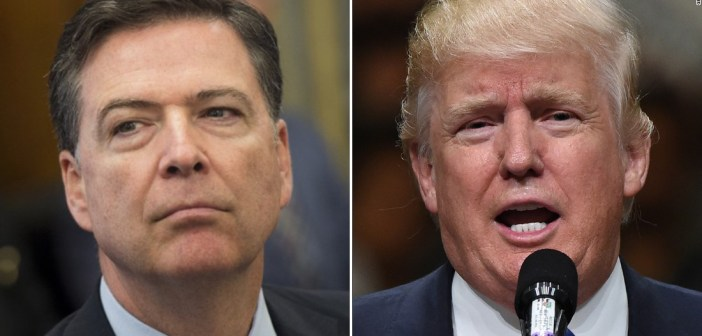 James Comey and Donald Trump