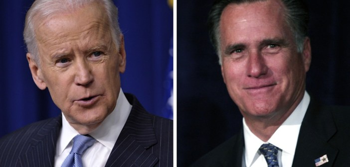 Joe Biden and Mitt Romney