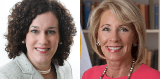 Mary Scott Hunter and Betsy DeVos