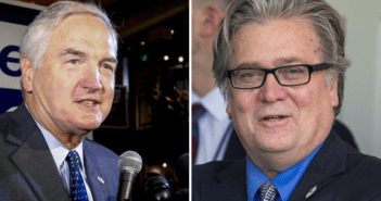 Luther Strange and Steve Bannon