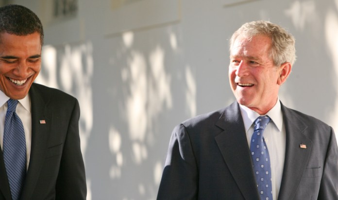 George W Bush and Barack Obama