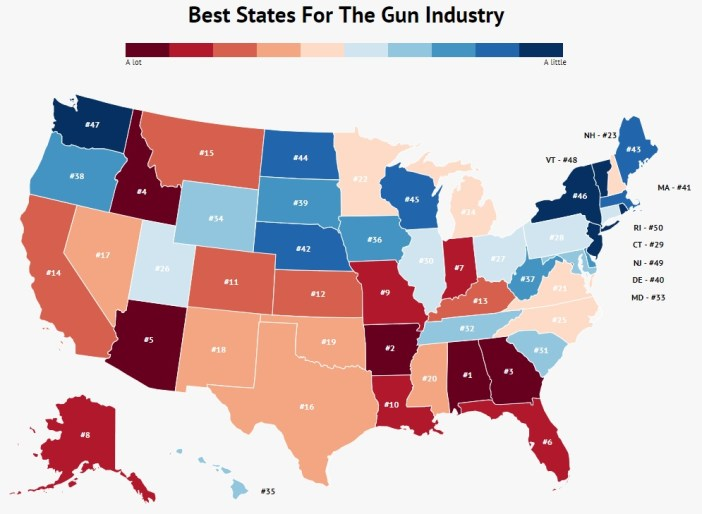 best-states-for-gun-industry-map