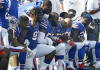 Buffalo Bills kneeling in 2017