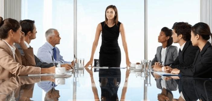 woman board room