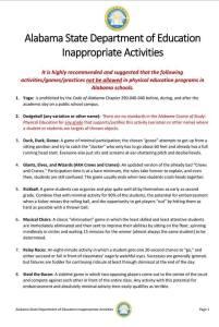 ALSDE PE Guidelines